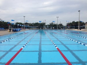 North County Aquatics pool on a chilly morning